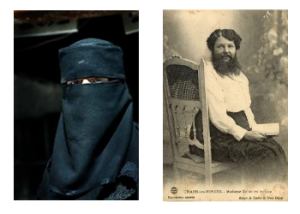 Bearded Muslim woman